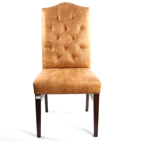 Image of Elegant Tufted Backrest Dining Chair