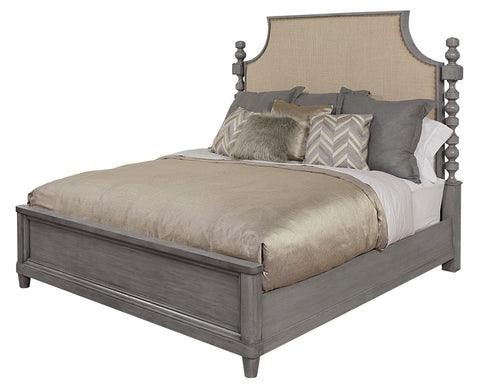 Image of Morrissey - 6/6 Healey Upholstered Panel King Bed - Smoke By A.R.T (ON SALE)