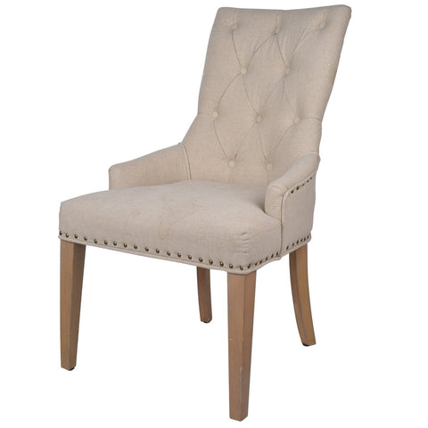Emery Tufted Back Accent Chair (Ivory)