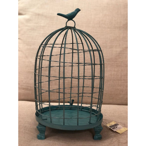 Stella Decorative Birdcages with Bird Finial -BLUE LARGE