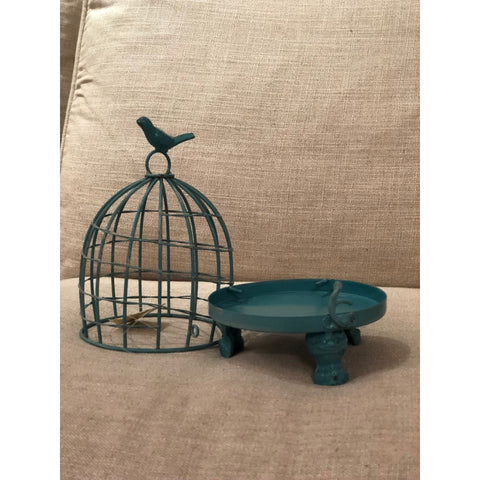 Stella Decorative Birdcages with Bird Finial -BLUE SMALL