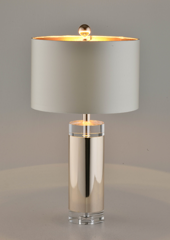 Receding Metallic Modern Table Lamp