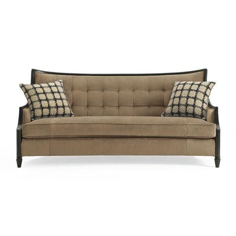 Annie Exposed Wood Sofa By Schnadig® TAN