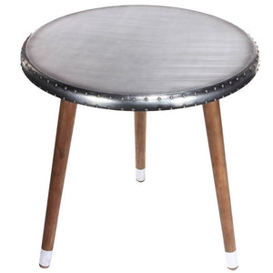 Faux Aluminium Top Tripod Dining Table (ON SALE)