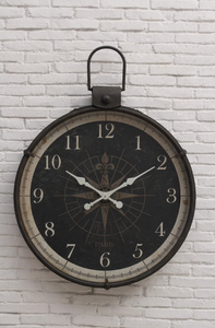 Wall Clock with Compass Image