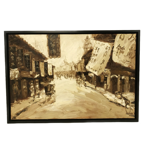 Hand Painted Old Shanghai Oil Painting (3) 101x69.5cm