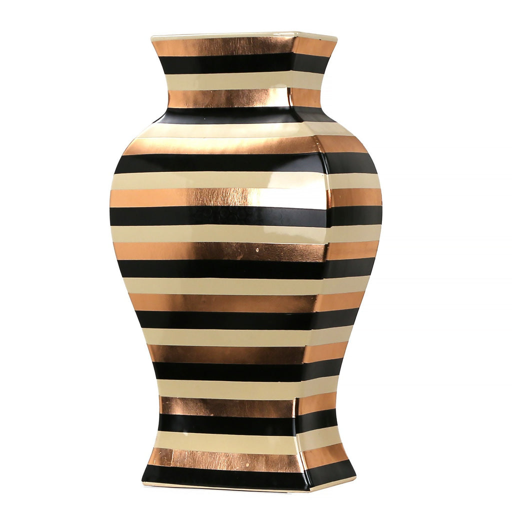 Metallic Stripe Vase LARGE