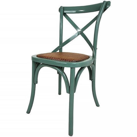 X Back Bistro Chair Jade Green