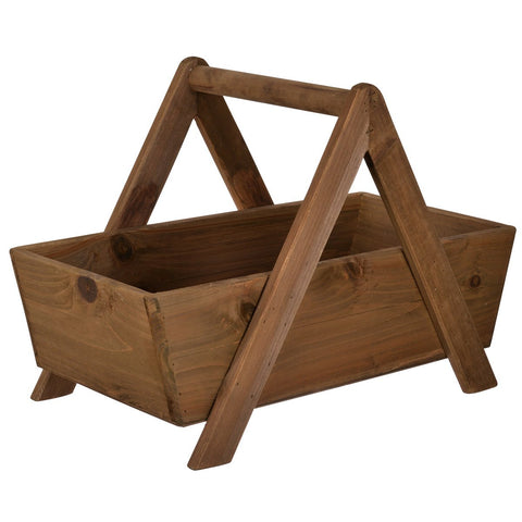 Swinging Wood Basket