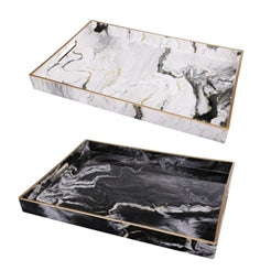 Quinn Rectangular Trays Black & White
