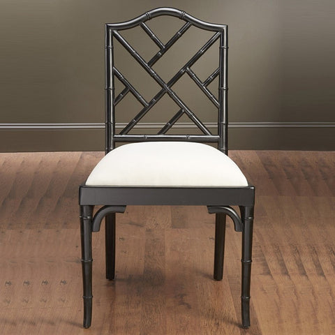 Chair Side Bamboo Black Finish