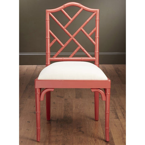 Chair Side Bamboo Red Finish