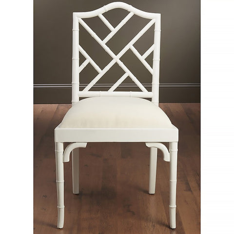 Chair Side Bamboo White Finish
