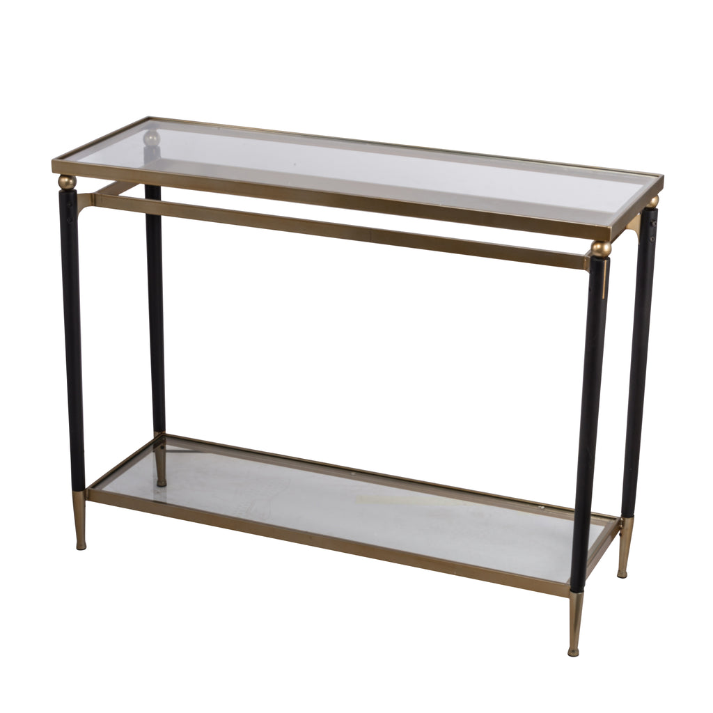 Modern Chic Gold And Black Console Table
