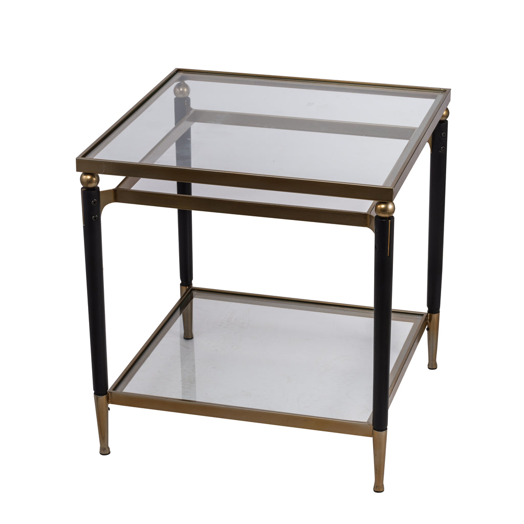 Modern Chic Gold And Black Side Table