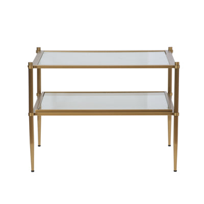 Tiered Shelves Side Table