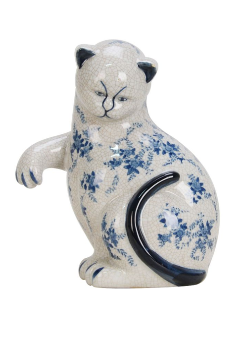 Chinese Blue & White Cat