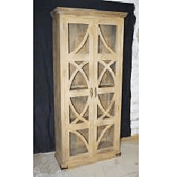 Wooden 2 Glass Door Almirah