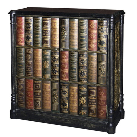 Old World Faux Book Cabinet