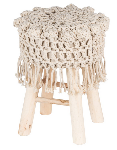 Image of HAND WEAVE COVER STOOL