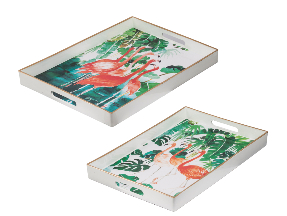 Flamingo Rectangular Tray