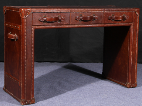 Desk in Vintage leather