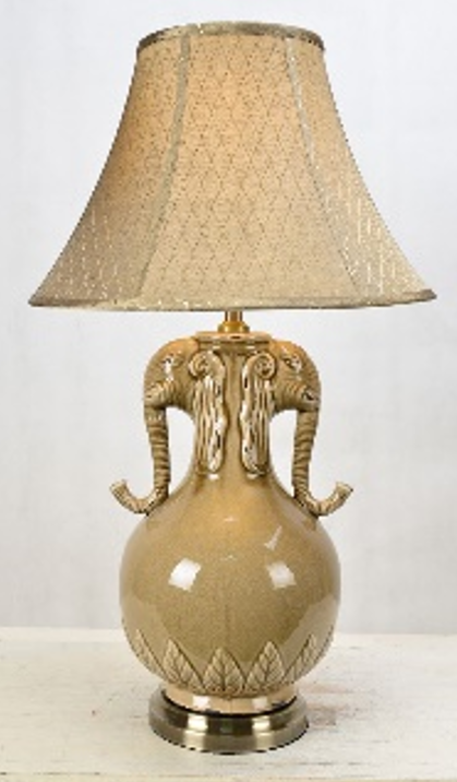 Golden Horns Antique Table Lamp