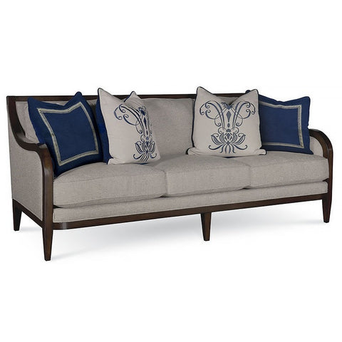 Bristol Linen - 3 Seat  Sofa with Tapered Legs