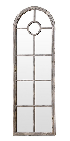 Image of White Metal Wall Mirror