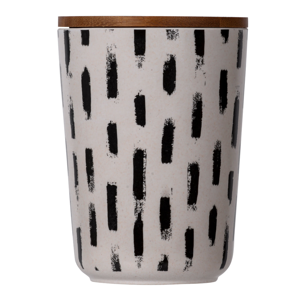 Melamine Canister Black And White