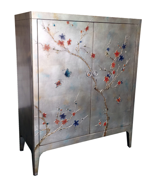 Pearl Butterfly Square Cabinet