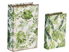 Botanical Green And White Book Boxe