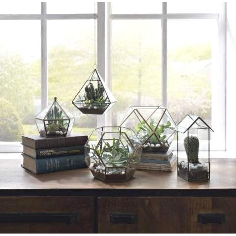 Crystal Shape Brass Edge Terrarium - Taylor B. Fine Design Group - 2