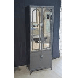 Iron 2 Glass 2 Door Almirah