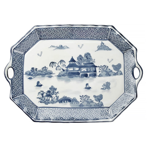 Serving Tray 18 inch Pagoda Pattern
