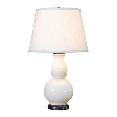 White Ceramic Table Lamp ( ON SALE )