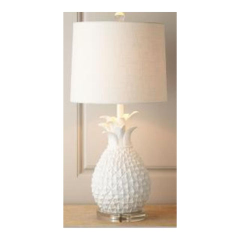 White Regal Pineapple Table Lamp