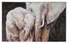 Canvas Hand-Painted Elephant Wall Art w/ Gold Foil Finish