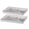 Effra Rectangular Tray,White Marbled