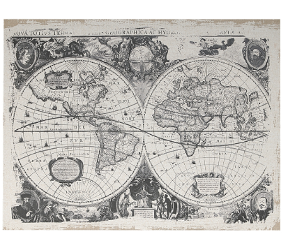 Danica Black-and-White  Antique Map Prints