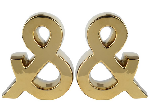 Image of Gold Urban Vogue Ampersand Bookend