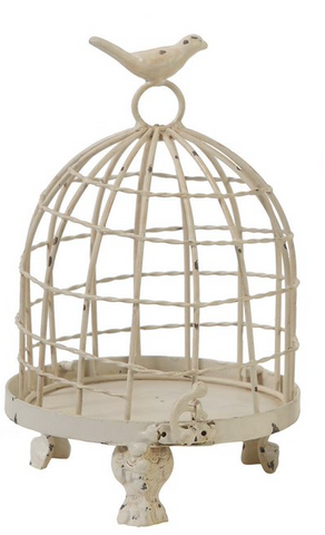 Cream Stella Decorative Birdcages with Bird Finial