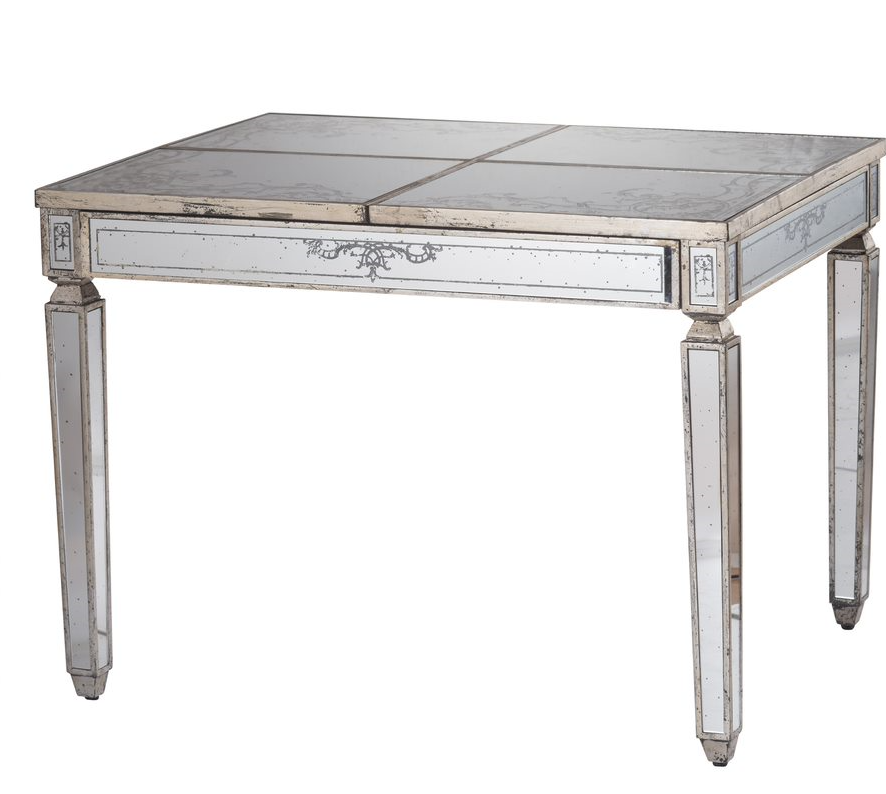 Violet Mirrored Table