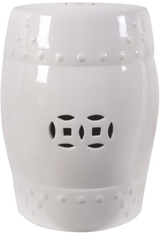 Image of White Zella Garden Stool