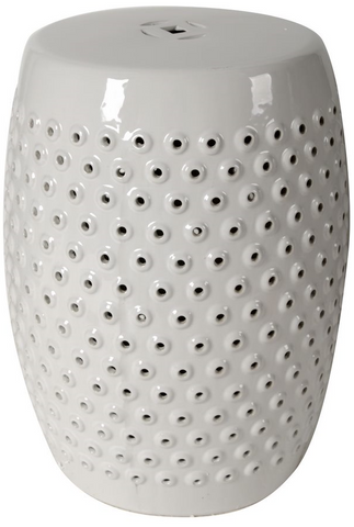 Image of White Finley Indoor/Outdoor Pierced Stool