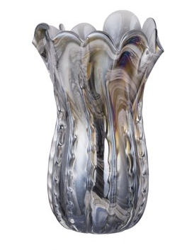 Svirla Blown-Glass Vase - Blue-Multi