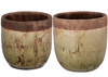 Candia Two-Tone Earthen Pots