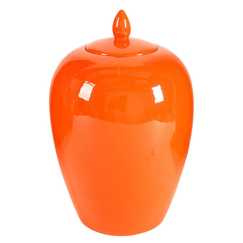 Image of Modern Citrus Lidded Jar 35.56cm