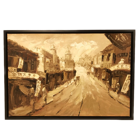 Hand Painted Old Shanghai Oil Painting (6) 101x69.5cm