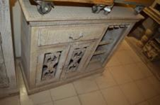 WDN. CAST IRON JALI DOOR 1 DRAWER BAR COUNTER